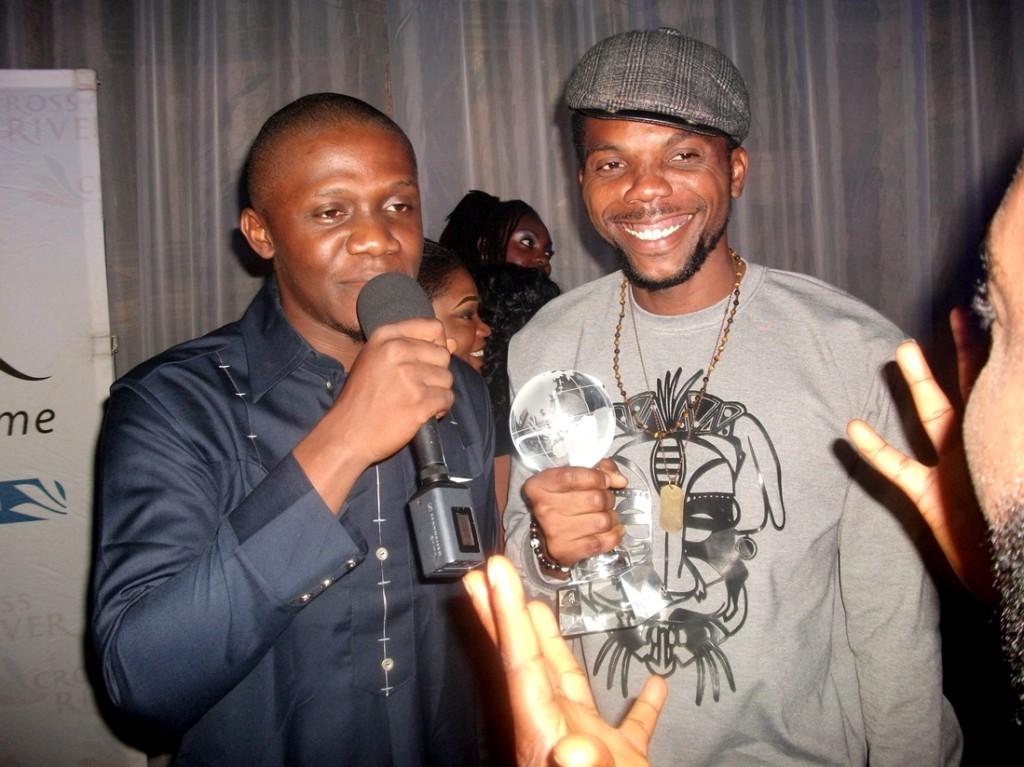 "Writer/Director C.J. ""Fiery"" Obasi doing an interview, with Actor Chidozie Nzeribe aka Sambasa"